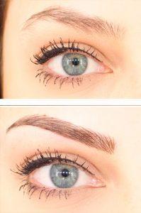 Antes y después de microblading cejas